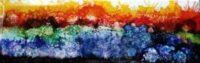 California Burning - Alcohol Ink Art Tile - Dragonflys Wings