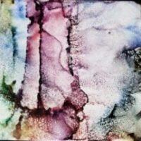 Desert Peace - Alcohol Ink Art Tile - Dragonflys Wings