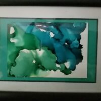 Blue Hibiscus - Alcohol Ink Art Tile - Dragonflys Wings