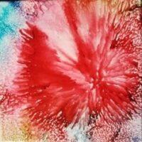 Fireworks - Alcohol Ink Art Tile - Dragonflys Wings
