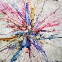 Fantasia - Alcohol Ink Art Tile - Dragonflys Wings