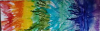 Rainbow Striving - Alcohol Ink Art Tile - Dragonflys Wings