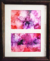Split Screen - Alcohol Ink Art Tile - Dragonflys Wings