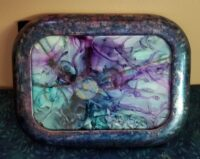 Wizard - Alcohol Ink Art Tile - Dragonflys Wings