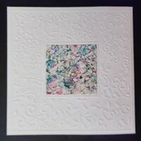 Embossed Square #1 Notecard - Dragonslfys Wings