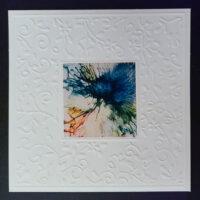 Embossed Square #2 Notecard - Dragonslfys Wings