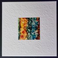 Embossed Square #5 Notecard - Dragonslfys Wings