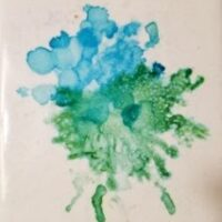 Simplicity - Alcohol Ink Art Tile - Dragonflys Wings