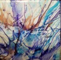 Stretch - Alcohol Ink Art Tile - Dragonflys Wings